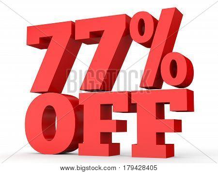 Seventy Seven Percent Off. Discount 77 %.