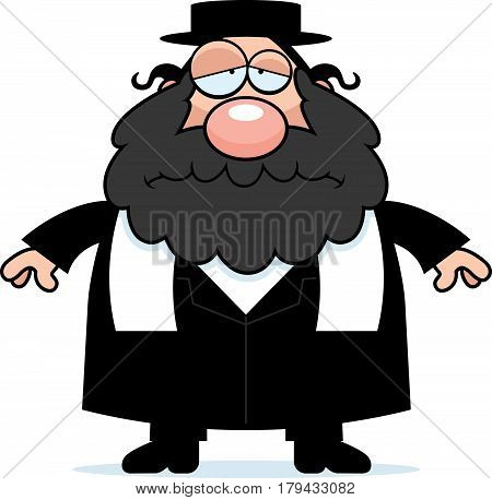 Sad Cartoon Rabbi