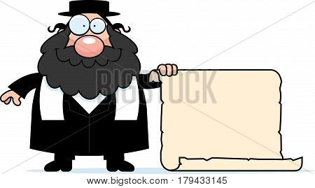Cartoon Rabbi Sign