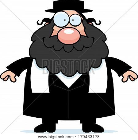 Smiling Cartoon Rabbi