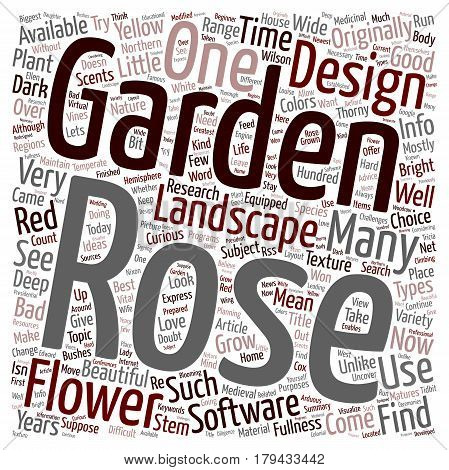 Design Your Own Rose Garden text background wordcloud concept