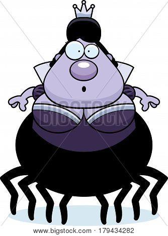 Surprised Cartoon Spider Queen