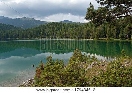 Nive view mountain lake in Montengroin he spring
