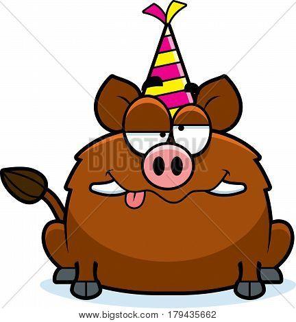Cartoon Boar Drunk Party