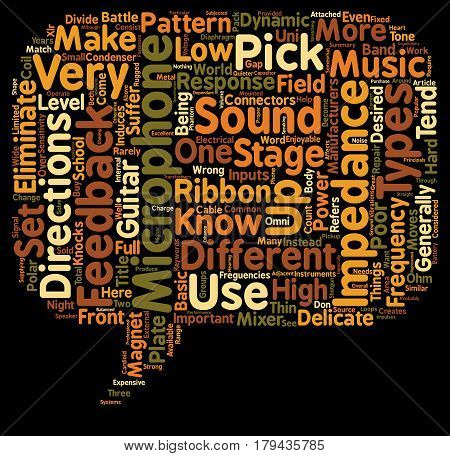 Differences In Microphones For Your Stage Set up text background wordcloud concept
