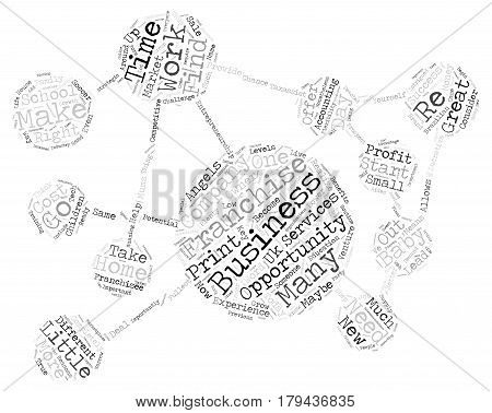 Find A Business Opportunity Right For You Word Cloud Concept Text Background