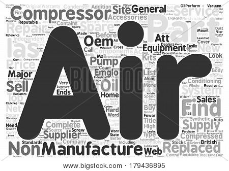 Find Components Air Compressors And Compressed Air System Part Word Cloud Concept Text Background
