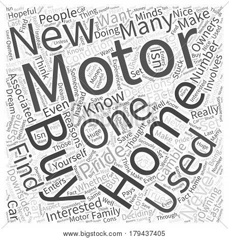 Motor Homes Should You Buy New or Used Word Cloud Concept