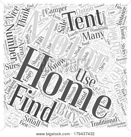 Motor Homes Perfect for Camping Adventures Word Cloud Concept