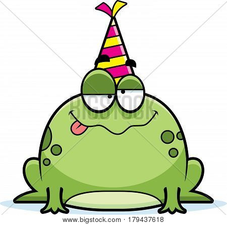 Cartoon Frog Drunk Party