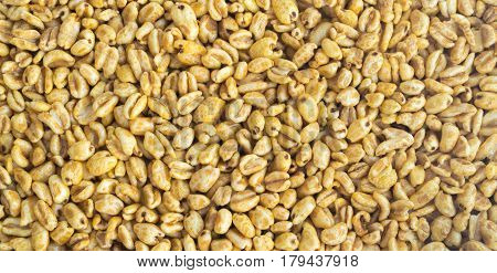 Puffed Wheat Snack Background