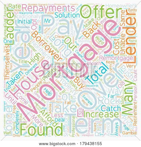 Mortgages Pay Back Over Years text background wordcloud concept