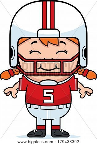 Smiling Cartoon Football