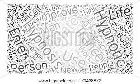 The Skinny On Hypnotherapy Word Cloud Concept Text Background