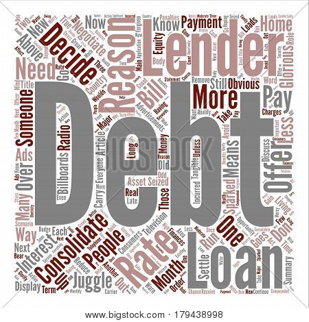 Three Reasons To Consolidate Debts text background word cloud concept