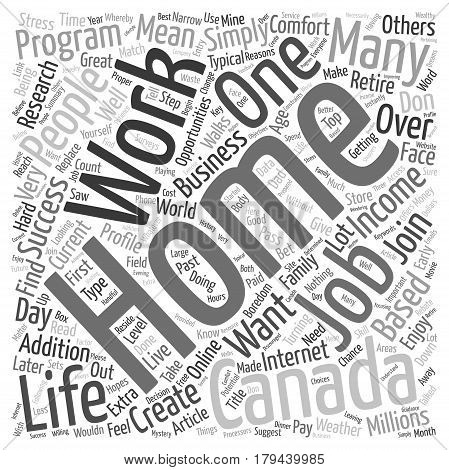 Top Work At Home Opportunities for Canada text background wordcloud concept
