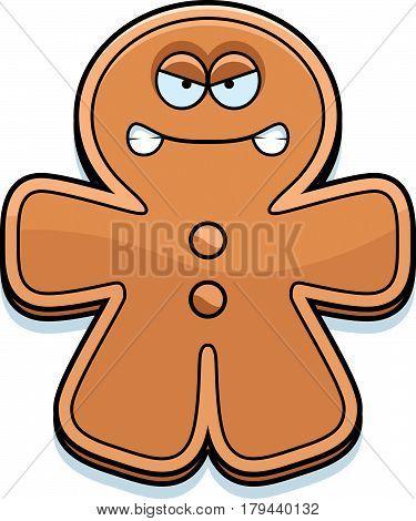 Angry Cartoon Gingerbread Man