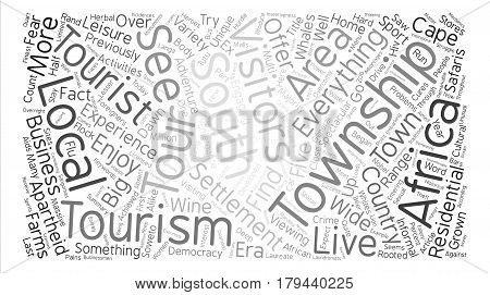 Township Tours Word Cloud Concept Text Background