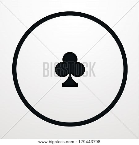 Card suit Vector illustration Stencil with card suits of clubs on white background Card games Paper art