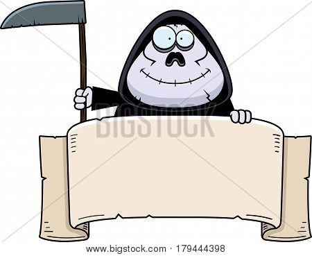 Cartoon Grim Reaper Banner