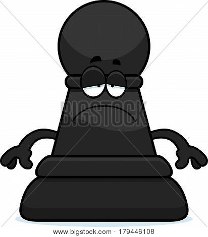 Sad Cartoon Chess Pawn