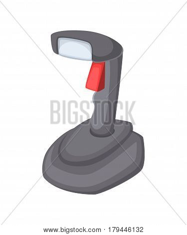 Cartoon vector illustration of barcode Scanner Isolated on white background.