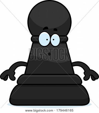 Surprised Cartoon Chess Pawn