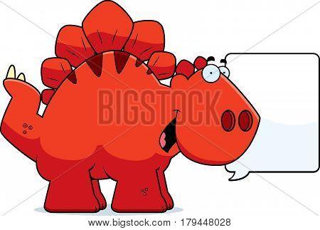Talking Cartoon Stegosaurus
