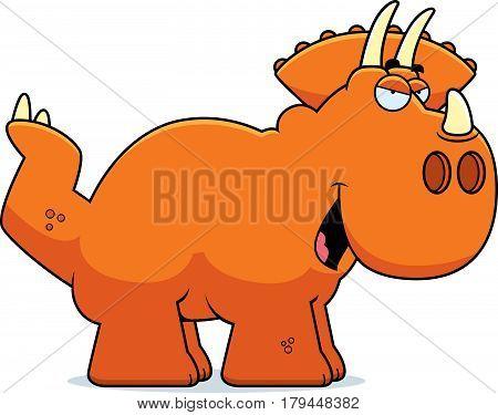 Sly Cartoon Triceratops