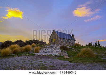 Sunrise at the Church of the Good Shepard New Zealand