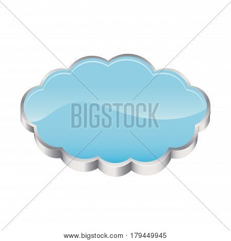 3D realistic cloud in cumulus shape vector illustration