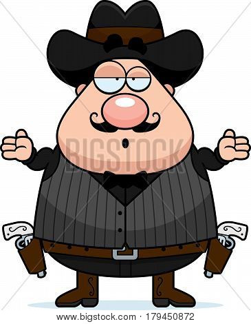 Confused Cartoon Gunfighter