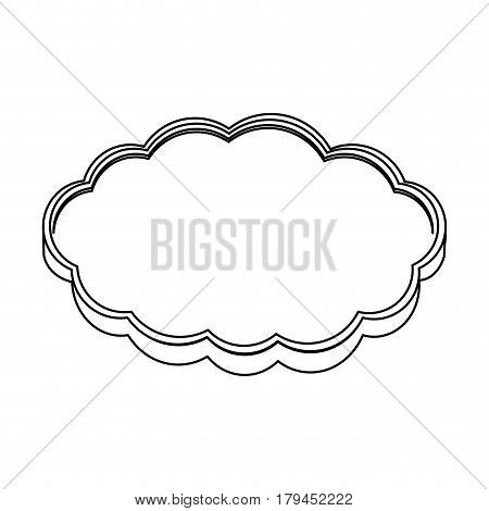 silhouette realistic cloud in cumulus shape vector illustration