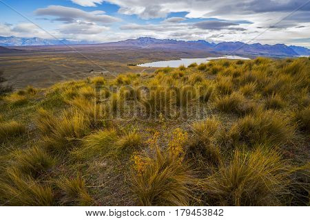 Landscape Scenery Of New Zealand During Cloudy Day.