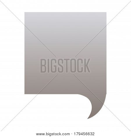 silhouette of square speech in grayscale color vector illustration