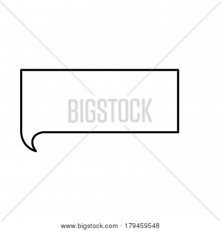 monochrome contour with rectangle speech vector illustration