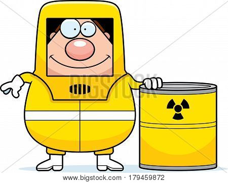 Cartoon Hazmat Waste