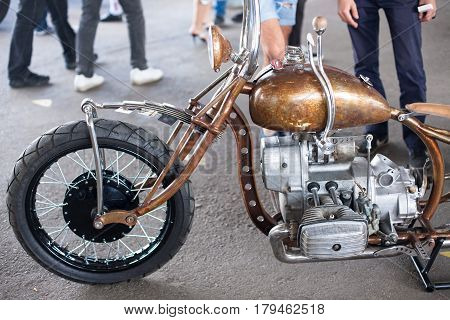 Unusual Kustom kulture fest motorcycle retro vintage style