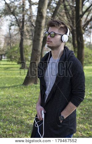 Portrait Of A Young Man Outdoors
