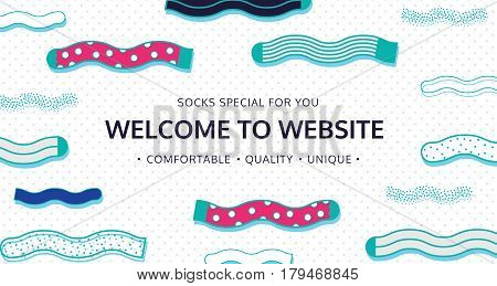 Welcome to website for socks shop. Color email graphic web banner template