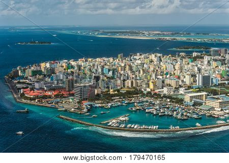Male - Maldivian capital view from above