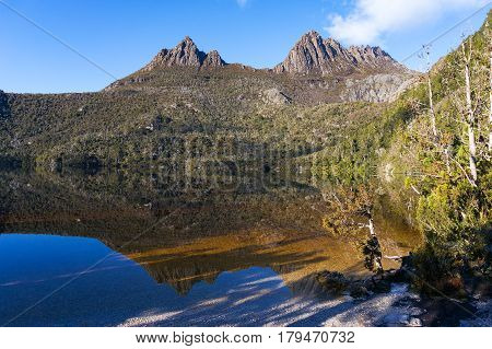 Picturesque Mountain Landscape With Water Reflection