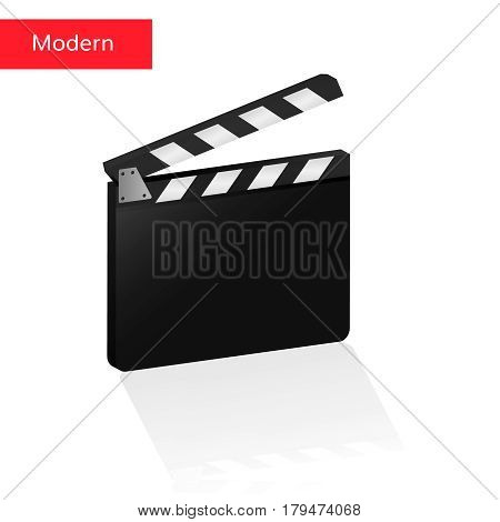 clapper board 3d realistic vector clack desk