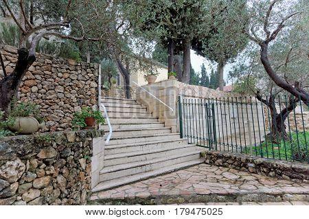 Jerusalem, Israel. - February 142017 The territory of Gorny Convent