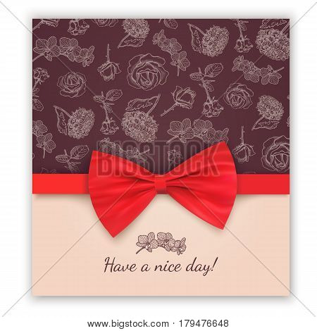 Nice day greeting card template. Vector illustration easy to edit.