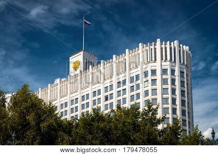 MOSCOW - JULY 15, 2012: Government House of the Russian Federation (White House).