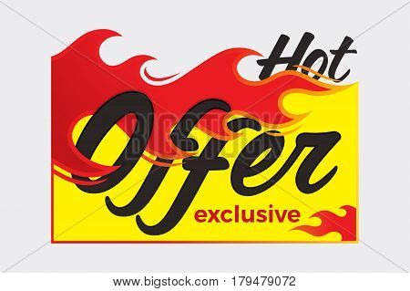Hot deal price sale offer deal vector labels stickers. Vector illustration