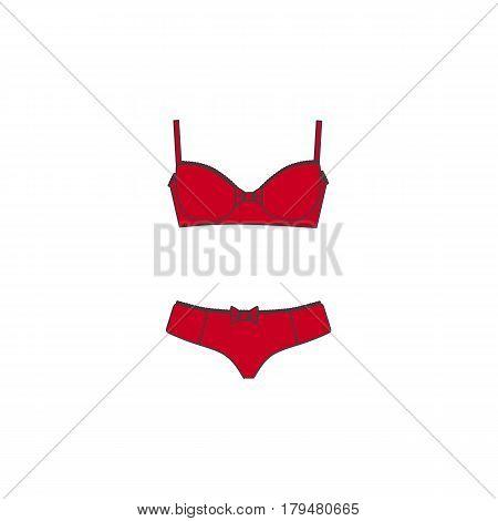 Set of lingerie, panties and bra, cotton underwear