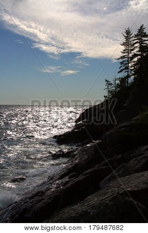 Landscape along the Agawa Rock trail in Lake Superior Provincial Park, Ontario, Canada