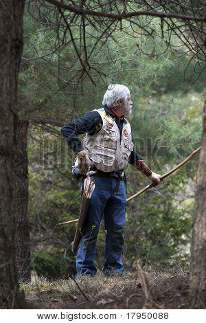 Senior Man With Historical Bow